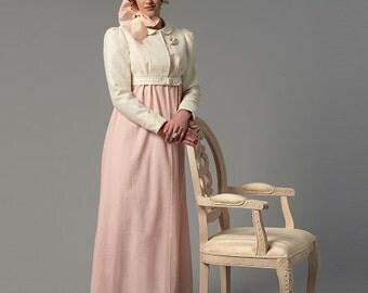 Diy Sewing Pattern Butterick 6074-Regency Gown/Dress-Pride n Prejudice Gown- Size 6-14