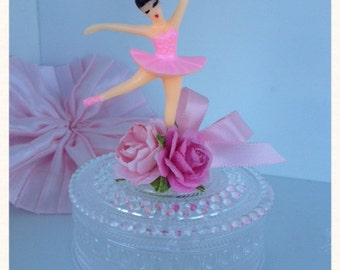 Shabby Chic Ballerina Birthday Party Trinket Box for Ballet party Birthday Decoration
