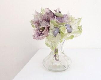 Sea Urchin Flowers Purple and Green (6pcs)