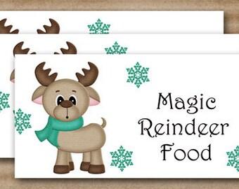 Items similar to reindeer food printable treat bag topper instant