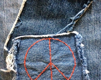 Altered Couture Vintage Levi's Hippie Gypsy Boho