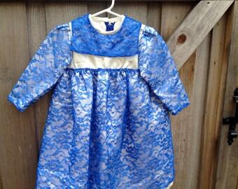 Blue Elsa Dress Girls 4/5