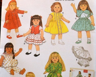Sewing Pattern Simplicity 4347 Baby Doll Clothes 18 inch doll  Complete