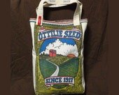 Tote Bag from Vintage Ottilie Seed Farms Sack