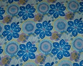 Fabric High Chair-Blue Round Flowers