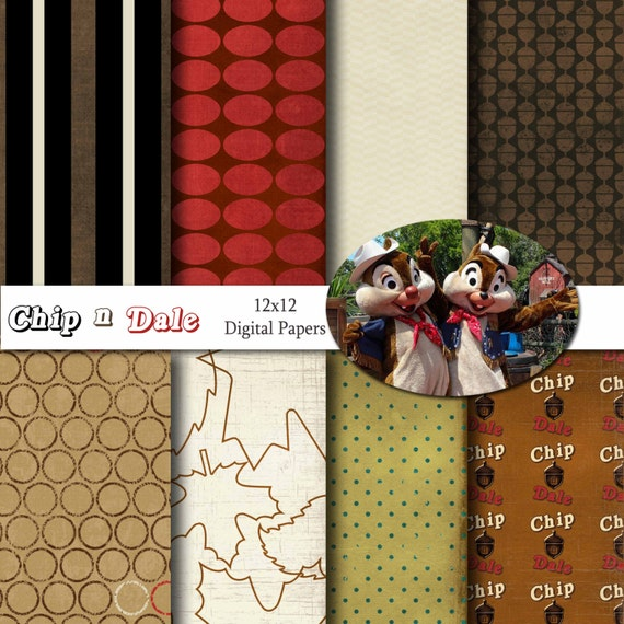 Disney chip n dale inspired 12x12 digital paper backgrounds - Chip n dale wallpapers free download ...