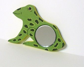 Frog Beveled Glass Painted Mirror