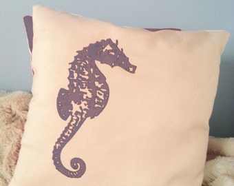 Seahorse Throw Pillows- 18x18in