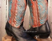 Painted one of a kind Cowboy / Cowgirl Boots