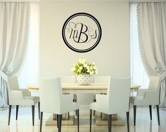 Elegant MONOGRAM Custom Vinyl Lettering {modern traditional unique} personalized asimpleimpression