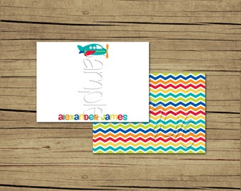 25 4x5 Airplane Thank You Cards