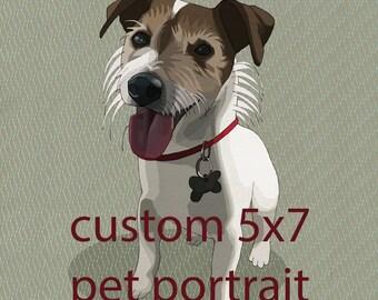 create your own 5x7 custom pet portrait