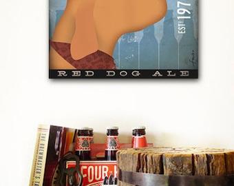 VIZSLA dog brewing company original illustration on gallery wrap canvas by stephen fowler