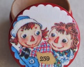 Reserved Listing For Carol M -- 2 Raggedy Ann and Andy Boxes