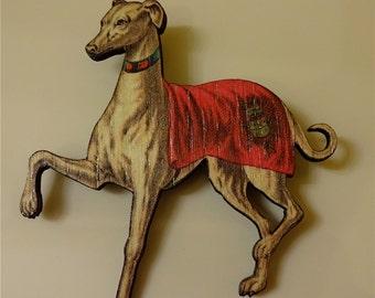 Elegant Greyhound Brooch