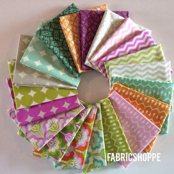 ENTIRE LINE SALE True Colors Fabric Bundle by Heather Bailey -Fat Quarter bundle, 20 total