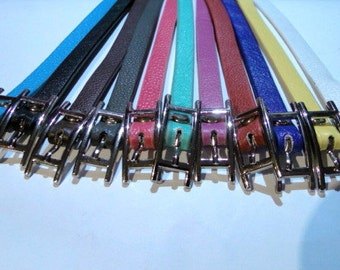 Leather Wrap-Around Bracelets - 3/8 inch wide X 24 inches long - TRIPLE WRAP - 13 different colors - by WonderStruck Studios