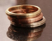 Gold Stacking rings available in rose, white and yellow gold