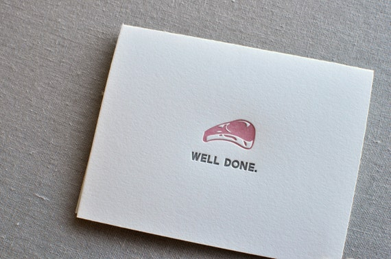 food pun letterpress