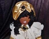 SALE--SALE Original Sha Bebe Cloth Doll Made by Cajun Doll Artist, Mary Lynn Plaisance in  Louisiana. Art doll collectibles ~!!!!