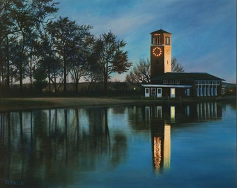"The Miller Bell Tower, Chautauqua Institution, 8"" x 10"" Print, From My Original Oil Painting"