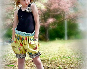 Girls Shorts Sewing Pattern -Puffer Shorts- 3 months -16 girls PDF Instant