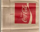 Old Vintage COCA-COLA cloth nail apron