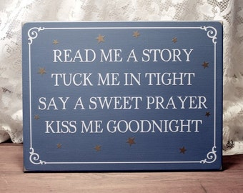 Read Me a Story Wood Sign - Children - Nursery-  Bedroom Kids - Family Saying Wall Decor