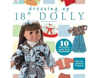 """Dressing Up 18"""" Dolly pattern book"""