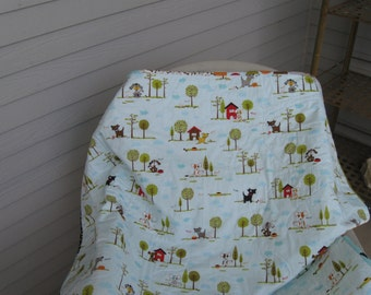 Puppy Park Quilt for Cot or Toddler Bed using Riley Blake's Puppy Park Fabric