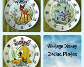 RESERVED  for Layne - Vintage Collectible Disney Zodiac Plates by Schmidt