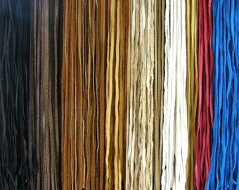 25 Pieces Deerhide USA LEATHER 3 Feet - 1/8 Inch Cord