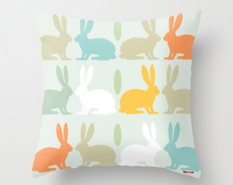 Nursery pillow- pillow cover - Rabbits pillow cover - Kids pillow cover - Kids bedding - Nursery decor - Cushion - decorative pillow