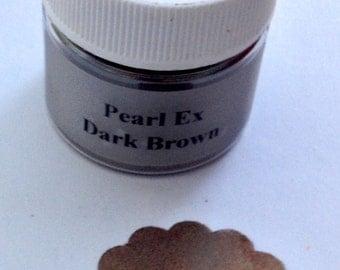 Jacquard Pearl Ex Mica Pigment Powder - 6 gram Jar - DARK BROWN #637