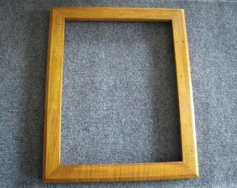 11x14  Curly Maple with a few worm holes and Honey Amber Dye Picture Frame C
