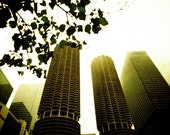 Downtown Chicago . Lomo LC Wide Series  . 8x10 Print