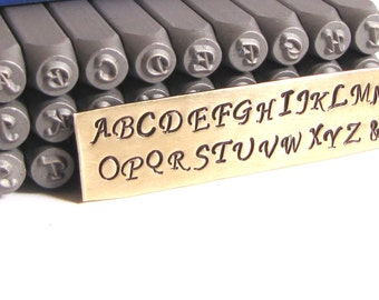Mono type Script 3mm upper case Steel letter stamps