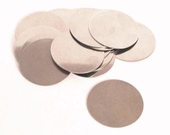 1.5 inch Nickel Silver huge large Discs disks 22 gauge,Hand stamping Supply ,6 per SET
