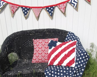Patriotic Bunting Banner, 4TH of JULY, PARTY FLAGS