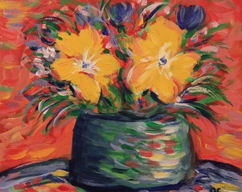 Spring Flowers - Original Floral Painting