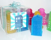 DOCTOR WHO Soap 4 Pc TARDIS and Daleks Soap Handmade Glycerin Dr Who Soap Bars