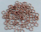Jump Rings Round, 6 mm, 18 Gauge, Stainless Steel, 100 Pieces, SS11