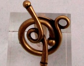 Renaissance Toggle Clasp, Brass Ox, TierraCast TB30
