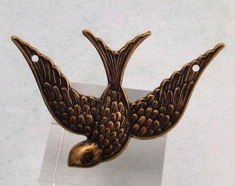 Soaring Bird Connector, Brass Ox, Trinity Brass AB74