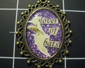 100% Charity Item: Lover of Bats Pendant All Proceeds Go to Bat World Sanctuary