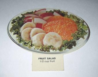 Vintage 1970s Food or Nutrition Die Cut Cardboard School Decoration of a Fruit Salad