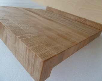 Chef Pastry Dough Rolling Board with Lips - Curly Maple