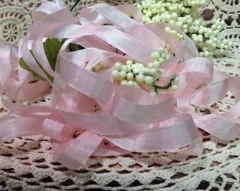 Five Yards Of Beautiful Soft Pink Seam Binding ribbon