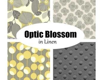 Custom Crib Bedding-OPTIC BLOSSOM
