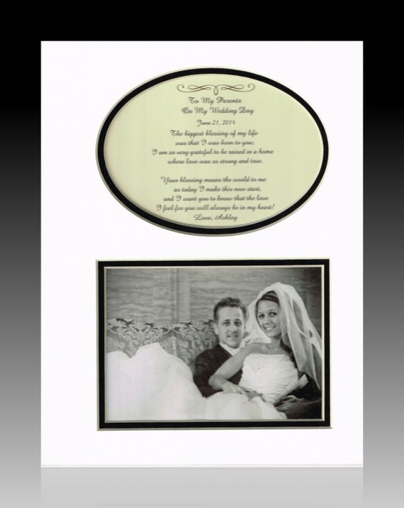 Wedding Gift for Parents Bride Groom Mother Father Personalized ...